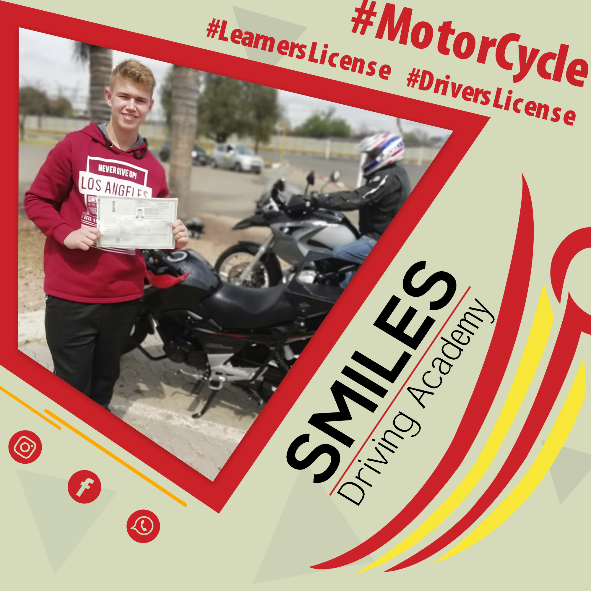 Smiles 12 March - Motorcycle Learners License
