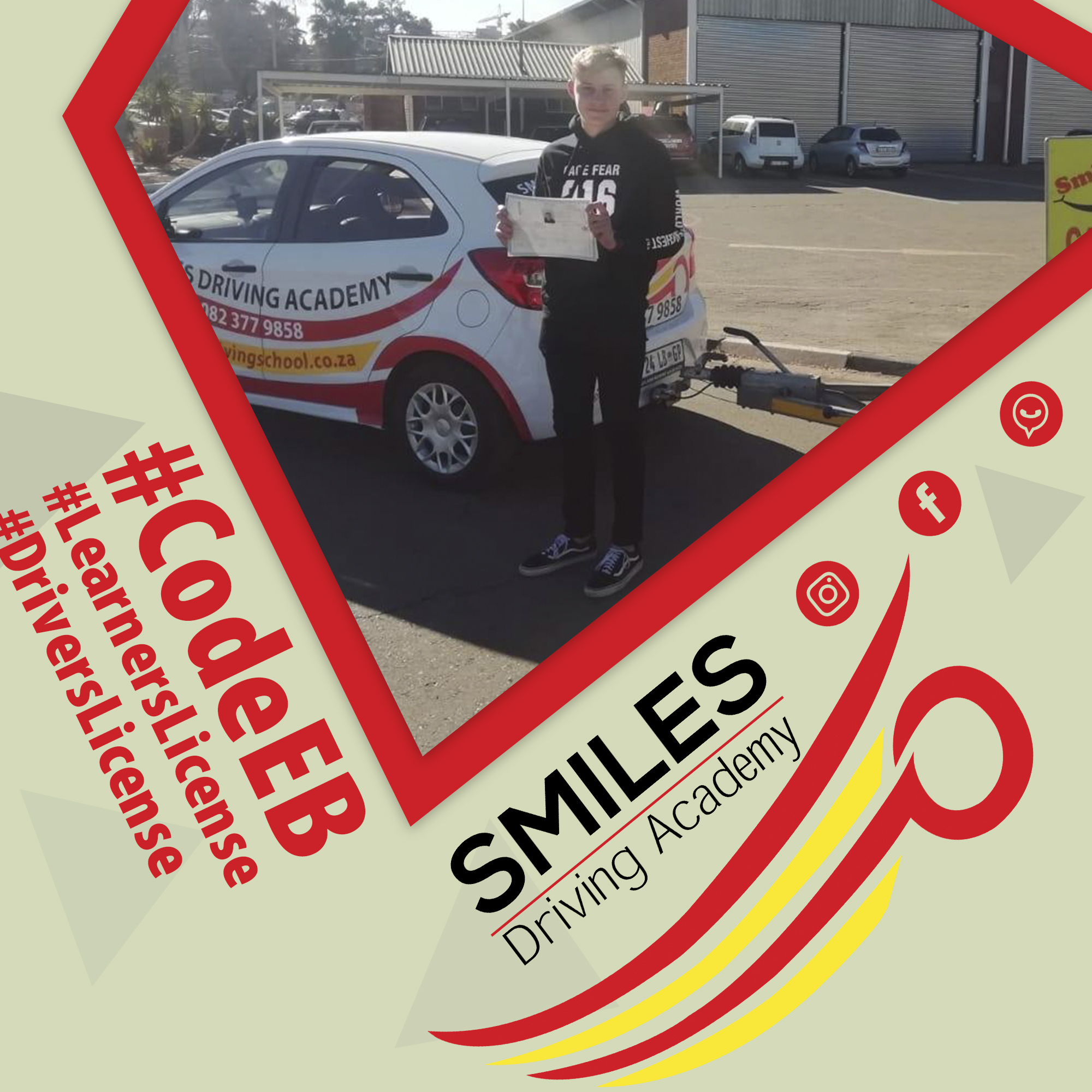 Smiles 28 Feb - EB Code Drivers license to tow your trailer